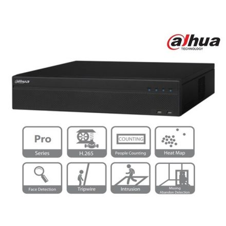 Dahua NVR Rögzítő - NVR5832-4KS2 (32 csatorna, H265, 320Mbps rögzítési sávszélesség, HDMI+VGA, 3xUSB, 8x Sata, I/O,Raid)
