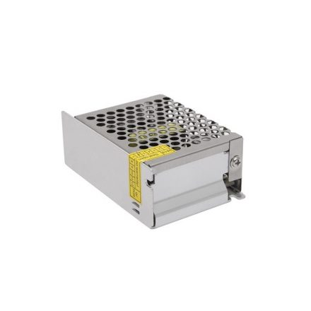 Hálózati stabilizált tápegység, 12VDC 2A, ipari, rövidzár-, túlfeszültség- és hőmegfutás elleni védelem