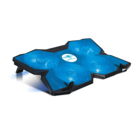 "Spirit of Gamer Notebook Hűtőpad 17""-ig - AIRBLADE 500 Blue (25dB; max. 127,42 m3/h; 4x12cm, LED, 2xUSB2.0)"