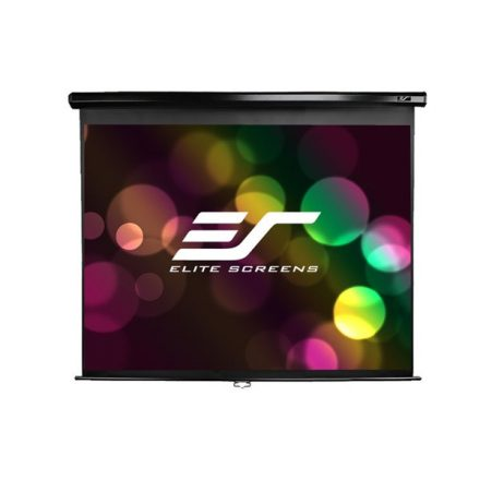 """EliteScreens 106"""" (16:9) manuális fali vászon M106UWH (235 x 132 cm, Fekete váz)"""