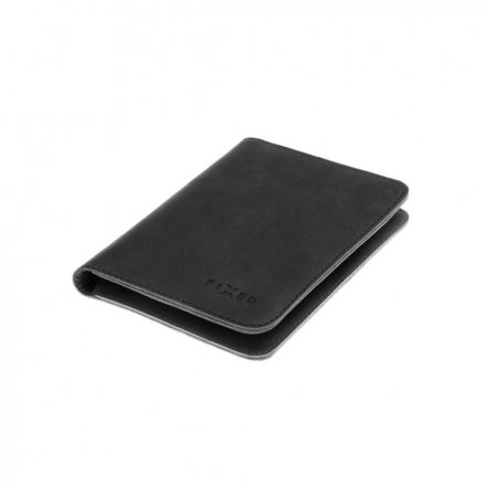 FIXED Leather wallet Smile Passport with smart tracker Smile PRO, passport size, black